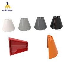 Buildmoc Compatibel Assembleert Deeltjes 47543 8X4X6 Grote Kegel Half Bouwstenen Onderdelen Diy Logo