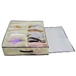 Image 2 - Hot Sale Home Accessories 12 Grid Transparent Dustproof Shoe Organizer PVC Shoe Storage Box Space Saving