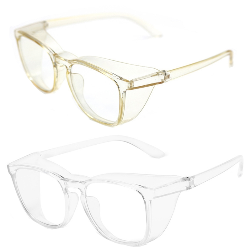 Vented Safety Goggles Clear Eye Protection Anti Fog Glasses Protective Anti Dust Eyewear Lab Workplace Outdoor Riding