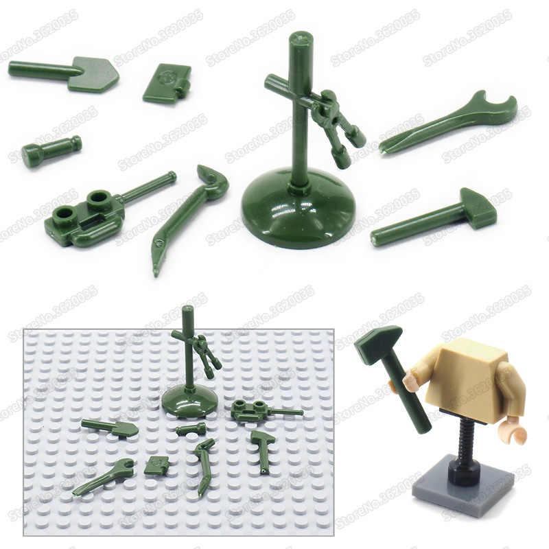 شخصيات عسكرية مخصصة أداة الجندي الأسلحة بنة القوة لتقوم بها بنفسك اكسسوارات Moc الحرب العالمية 2 نموذج هدية ألعاب تعليمية
