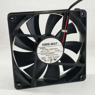 NMB 12CM DC12V 0.72A 4710KL-04W-B50 Large Air Volume Chassis Cooling Fan
