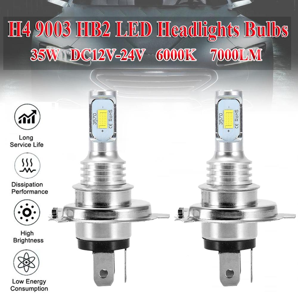 2pcs <font><b>H4</b></font> 9003 HB2 <font><b>LED</b></font> Headlight <font><b>Bulb</b></font> Beam Kit 12V 35W High Power <font><b>LED</b></font> Car <font><b>Light</b></font> Headlamp 6000K Auto Headlight <font><b>Bulbs</b></font> 7000LM image