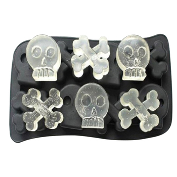 Skull Shape Wine Ice Mould Tray DIY Tools Whiskey Cocktail 3D Silence Ice Maker for Household Ice Cream Making Supply image