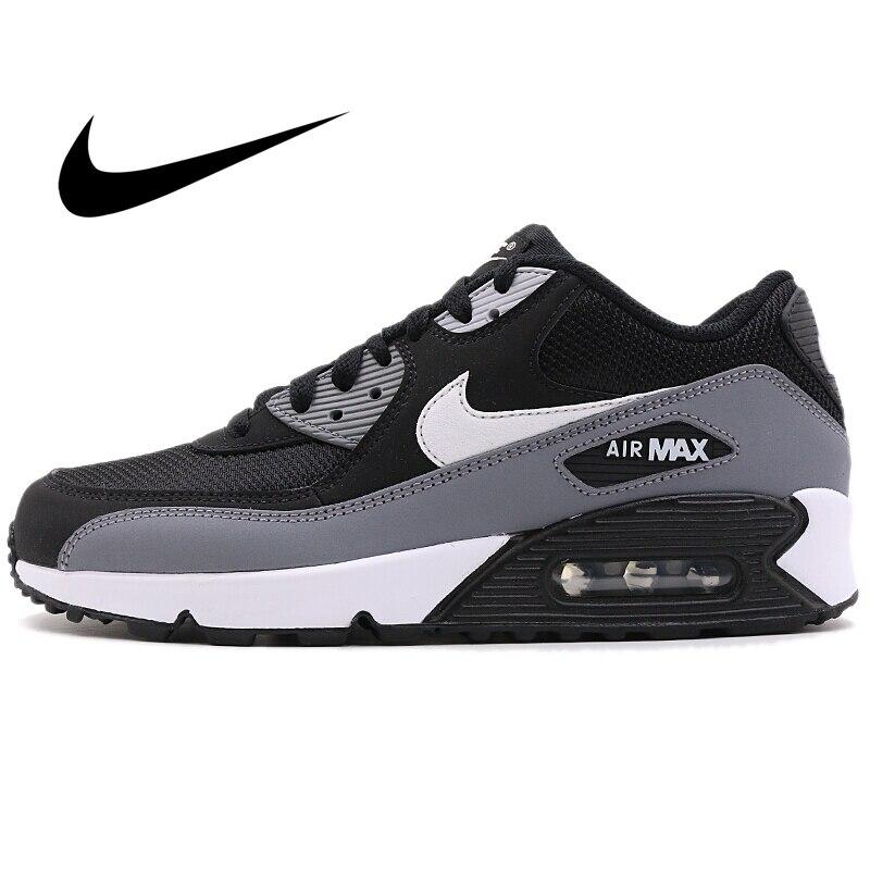 오리지널 NIKE AIR MAX 90 ESSENTIAL 남성 운동화 편안한 스포츠 아웃 도어 운동화 Athletic Designer Footwear AJ1285-018