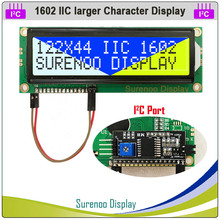 162 Lcd-Module-Display Serial Arduino Character Larger Yellow Green Backlight with