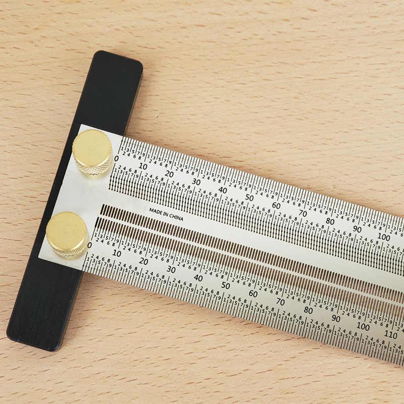 Деревообрабатывающий писец 180-400 мм Т-образная линейка отверстие разметочная линейка скрещенный инструмент линия рисования маркировочный прибор DIY измерительный инструмент