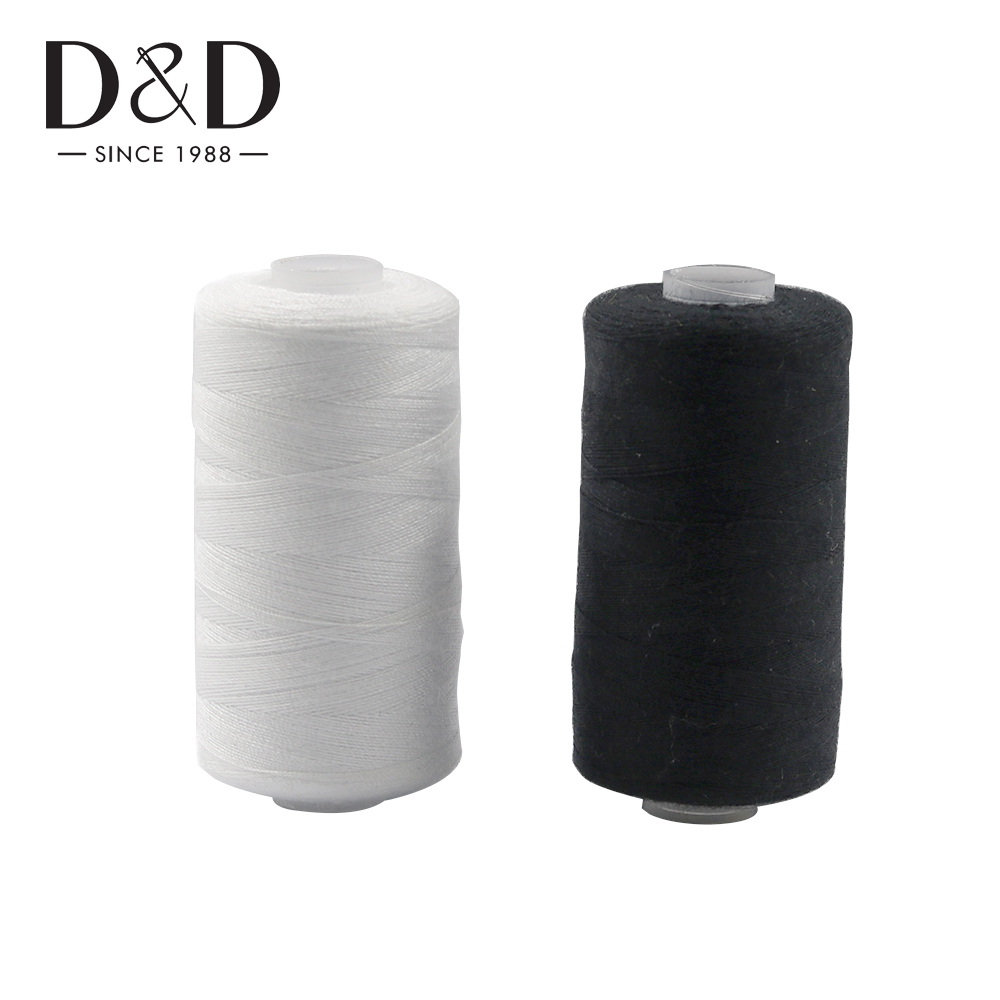 2Pcs 500M Sewing Thread Polyester Thread Set Strong And Durable Black White Sewing Threads For Hand Machines