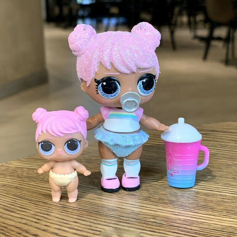 Original Lol Surprise Doll Glittering Series Doll And Sister Rare Style Collection Actie & Toy Figures Model Toys For Children
