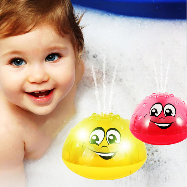 Children Bathroom Water Spray Bath Toys Electric Sprinkler Ball with Light Music Funny Infant Baby Water Play Ball Bathing Toys 3