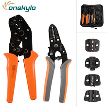 Crimping Tool Kit Multitool Engineering Ratchet Terminal Tool+Screwdriver+Wire Stripper hand tools set