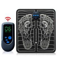 Masajeador eléctrico inteligente EMS para pies, dispositivo de acupuntura por pulsos, carga USB, mejora la circulación sanguínea, alivia el dolor, cuidado de la salud