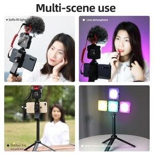 Image 5 - 6W Mini RGB LED Video işığı Tripod ile 2700K 6500K kamera dolgu işığı fotoğrafçılığı aydınlatma için Tiktok Vlog işık lambası