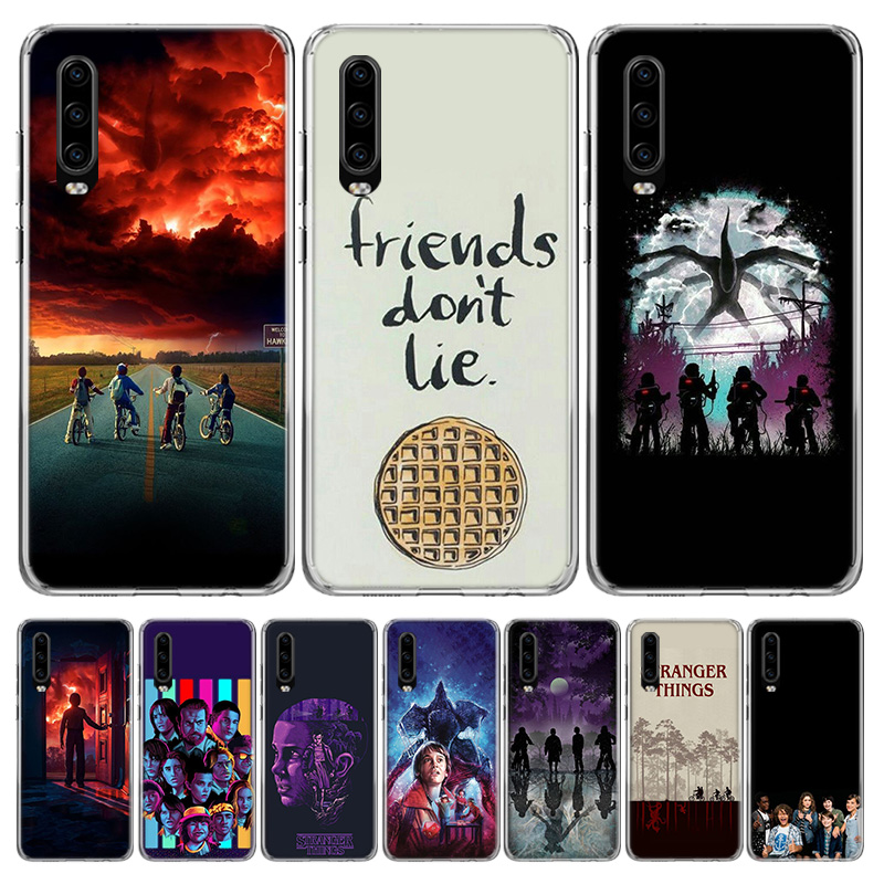 <font><b>Stranger</b></font> <font><b>Things</b></font> Poster Cover <font><b>Phone</b></font> <font><b>Case</b></font> for <font><b>Huawei</b></font> P40 P30 <font><b>P20</b></font> Mate 30 20 10 Pro P10 <font><b>Lite</b></font> P Smart Z + 2019 Coque Shell Capa image