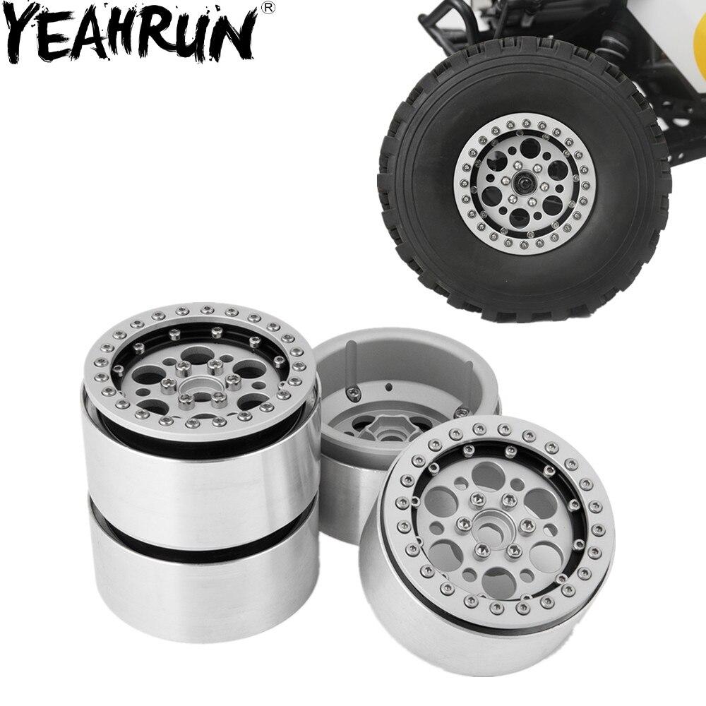 2.2/'/' Alloy Metal Beadlock Wheel Rim hub For 1//10 RC Crawler Wraith AX90018 D90