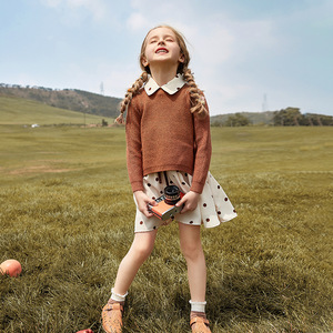 Image 3 - 2019 Girls Winter Clothes Set Long Sleeve Sweater Shirt + Skirt 2 Pcs Clothing Suit Spring Outfits For Kids Girls Clothes 3 14y