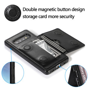 Image 4 - حامل بطاقة محفظة الحال بالنسبة لسامسونج نوت 10 9 8 S10 S9 S8 زائد S10e المغناطيسي الفاخرة جلدية حامل صدمات الغطاء الواقي