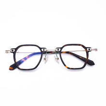 Spectacle-Frame Acetate Precription-Lens Square Metal Optical-Fancy Belight Vintage Retro
