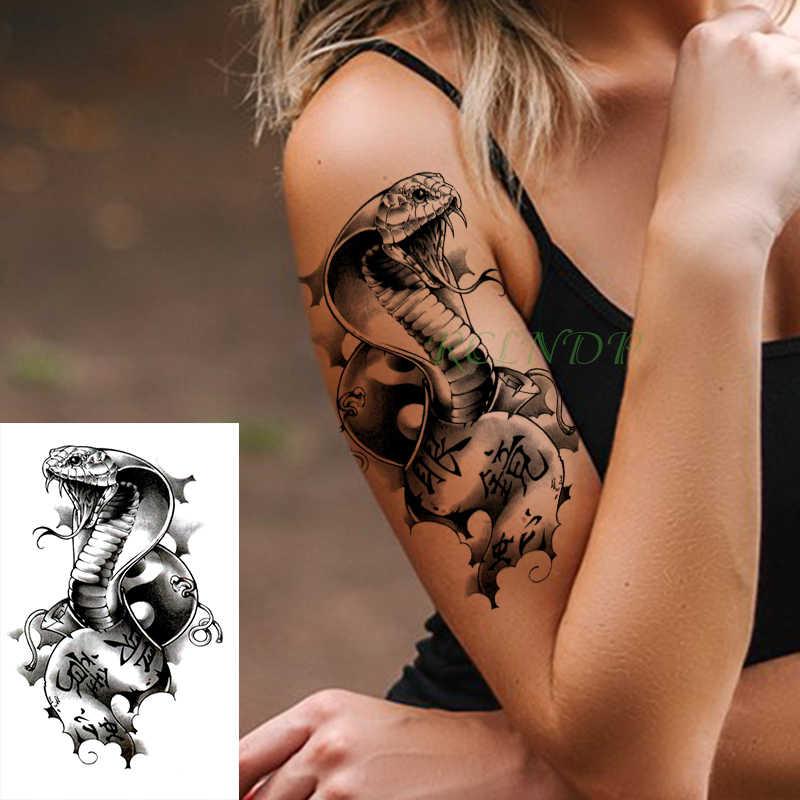 Waterproof Temporary Tattoo Stickers Cobra Snake Animal Fake Tatto Flash Tatoo Body Art Tattoos For Girl Women Men Kid Aliexpress