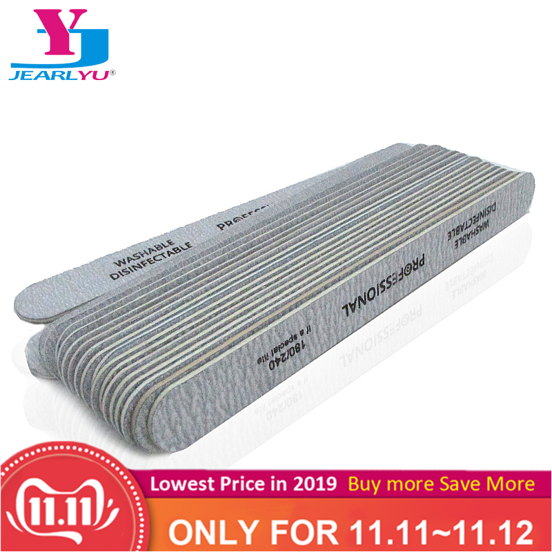 100pcs/lot Sandpaper Nail File 180/240 Professional Manicure Buffer Pedicure Double-sided Buffers Nail Tools Sets