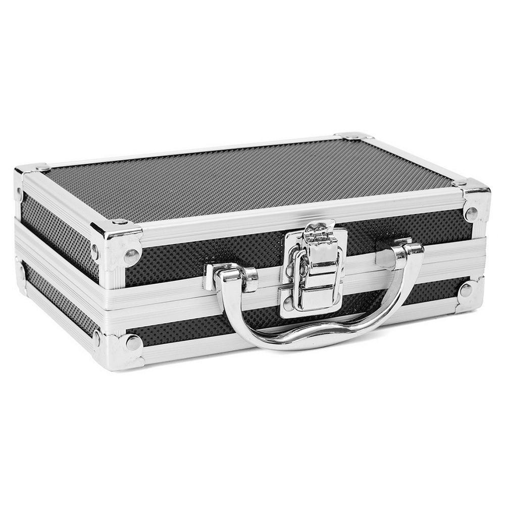 Автомобильный ящик для инструментов, оборудование для технического обслуживания, безопасное хранение, чемодан, оборудование для ремонта авто, портативный органайзер, алюминиевый сплав и АБС, ящик для инструментов