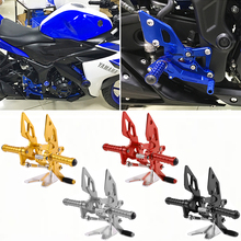 YZF-R25 YZF-R3 MT-25 MT-03 Footrest Foot Pegs Adjustable Rearset Rear Set For Yamaha YZF R25 R3 MT25 MT03 2014 2015 2016 2017 tail light turn signal blinker lamp for yamaha mt 25 mt 03 yzf r25 yzf r3 yzf r25 r3 mt25 mt03 mt 25 03 assembly integrated led