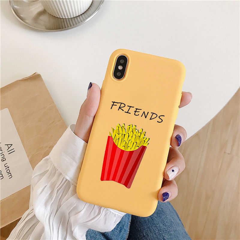 หวาน BFF พิมพ์กรณีสำหรับ IPhone 6S 6 7 8 X XR XS MAX ซิลิโคน I Love My BFF เพื่อนนุ่มสำหรับ IPhone ของ Apple IPhone กรณี