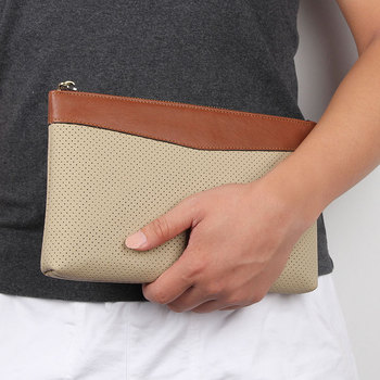 Men Day Clutches Bags Cow Leather Hand Casual Travel Business Day Clutch Bag Male