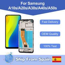 Pantalla LCD AMOLED 100% para Samsung Galaxy A10s, A20s, A30S, A40s, A50s, montaje de digitalizador de repuesto, envío desde España