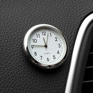 Car Clock Luminous Mini Automobiles Internal Stick-On Digital Watch Mechanics Quartz Clocks Auto Ornament Car Accessories Gifts