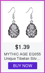 MYTHIC AGE Tibetan Silver Color Carved Flower Vintage Ethnic Drop Dangle Earrings Retail Jewelry Jewellery Gift For Women Girls 3