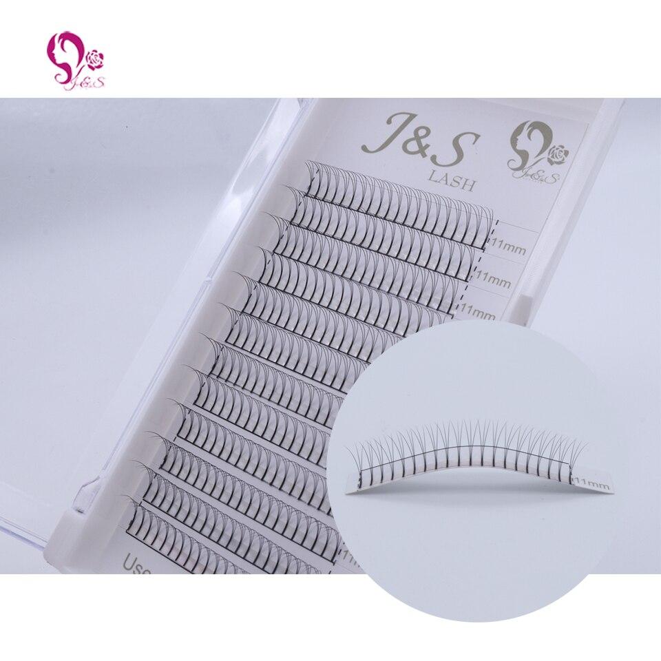 Jeyelash Pre made fans 3D volume eyelash extensions, heat bonded lashes ,5 trays/lot J & S faux mink eyelashes
