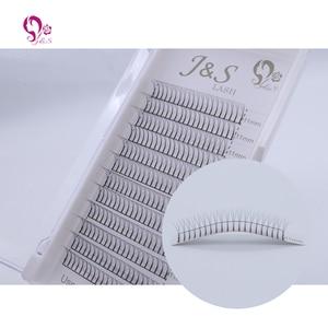 Image 4 - Jeyelash Pre made fans 3D volume eyelash extensions, heat bonded lashes ,5 trays/lot J & S faux mink eyelashes