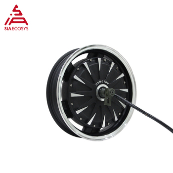 QS Motor 14*3.5inch 2000W 260 V1.12 60kph hot sale BLDC gearless motor in-wheel hub motor for electric scooter image