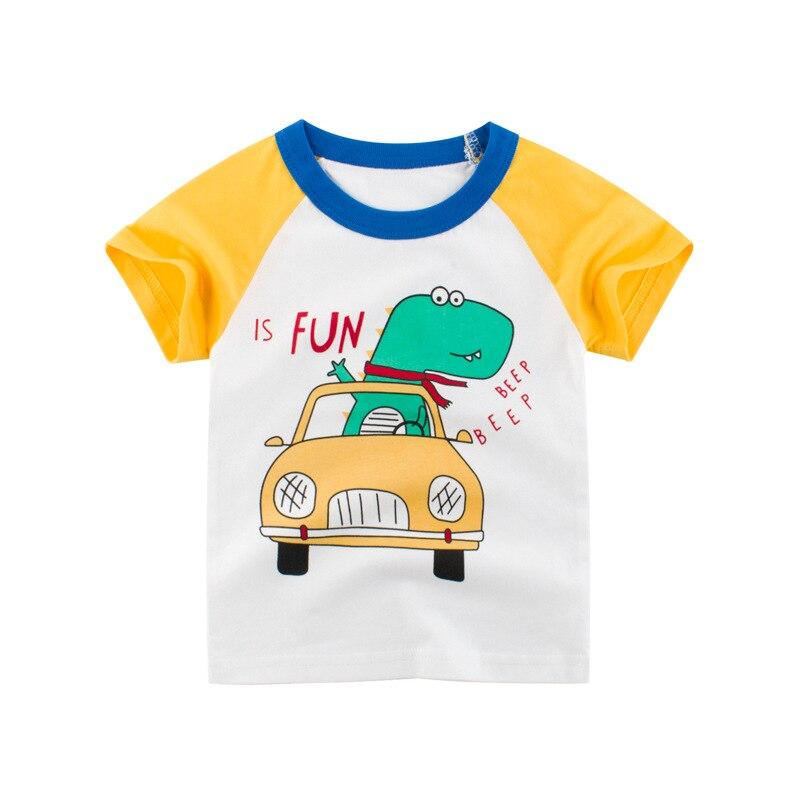 VIDMID Boys t-shirts Cars Short Sleeve T-shirt Kid baby Boys Casual Sport tees Children Summer Dinosaur tops Clothing 4037 05 5