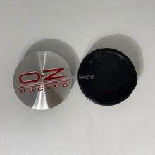 4 sztuk 55mm/52mm dla OZ wyścigi odznaka puste Chrome środek koła samochodowego obręcz piasty nakrętki na wentyle M582