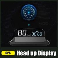 Velocímetro automático KPH/KPM espejo GPS HUD Head-up display Universal Speed Projector Compatible con todos los coches camión vehículo H400G