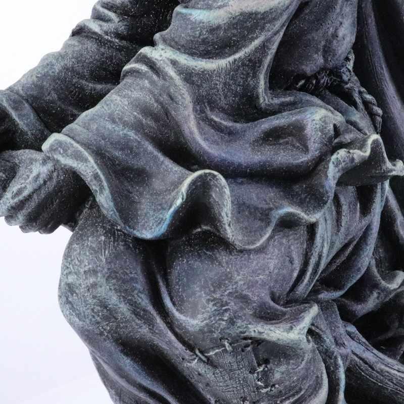 Gandalf feiticeiro escultura relógio de mesa tempo memória relógio arte fóssil decoração para casa acessórios