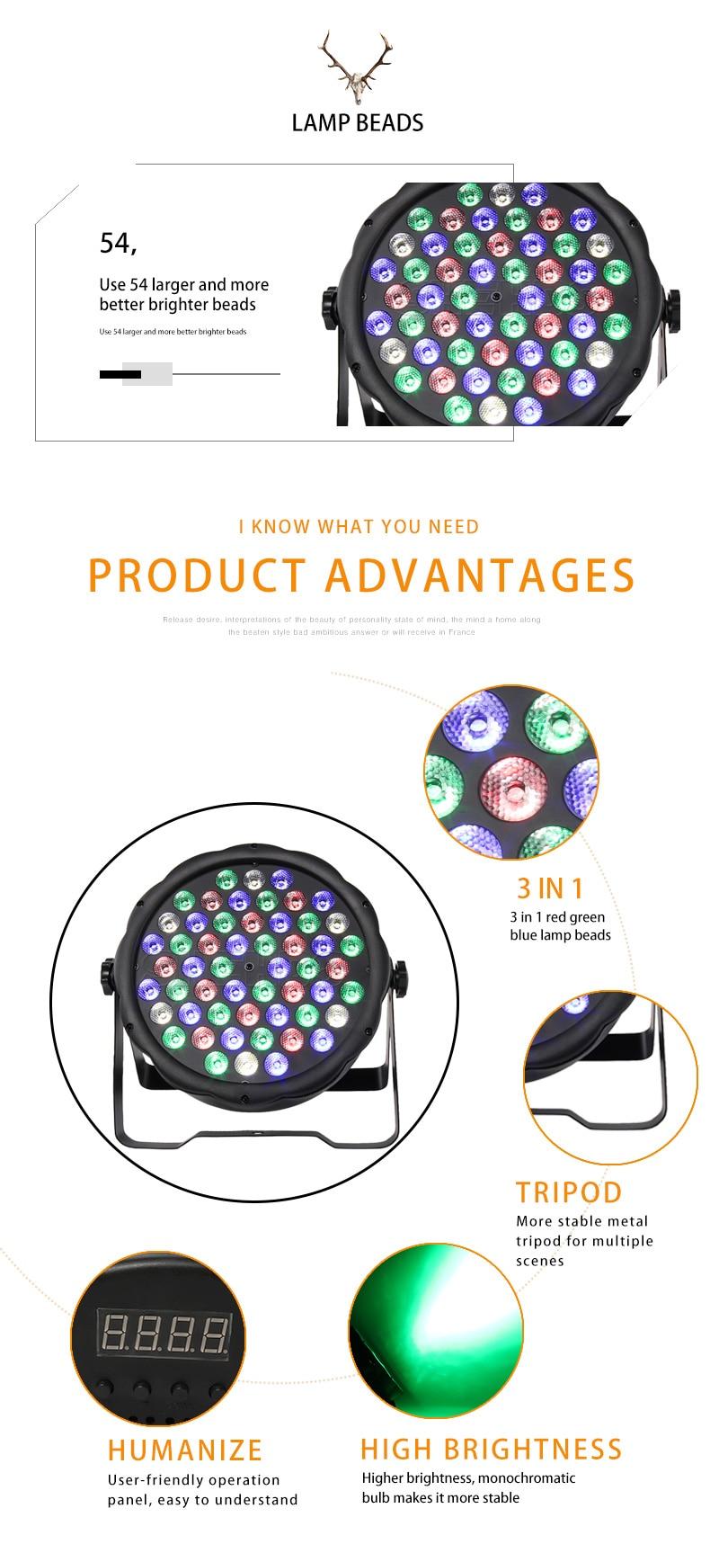 iluminação led par luz strobe dmx controlador