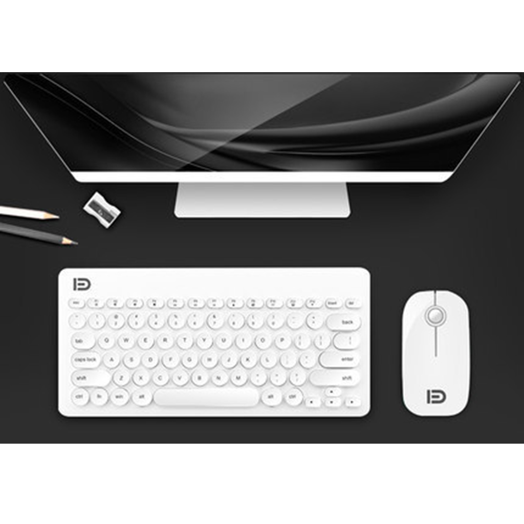 Wireless Keyboard Mouse Combo, 2.4GHz Slim Full-sized Advanced Soundless Wireless Keyboard and Mouse Combo USB Nano Receiver