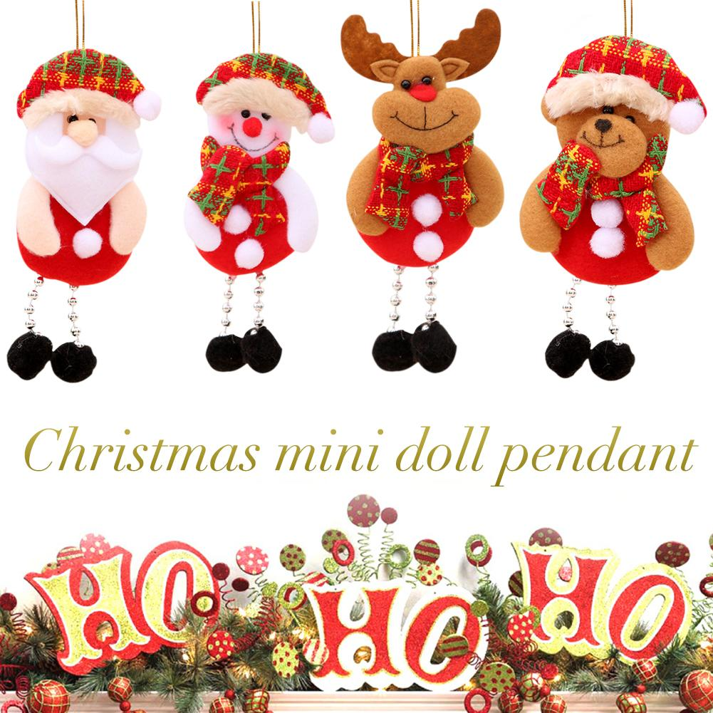 New Year Christmas Decorations For Home Santa Claus Ornaments Christmas Tree Decor Festival Supplies Pendant Gift Free Shipping in Pendant Drop Ornaments from Home Garden