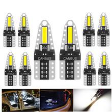 10 шт 12 В t10 светодиодная лампа светодиосветодиодный Белая