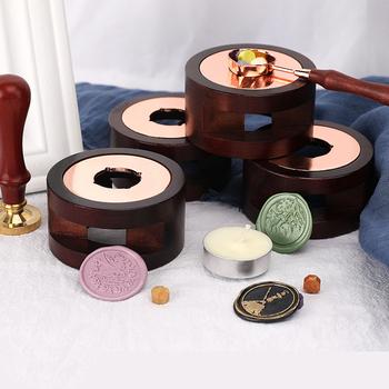 Pieczęć woskowa piec do topienia kleju i zestaw łyżek pieczęć woskowa koraliki kije cieplej pieczęć woskowa kuchenka narzędzia do rękodzieła DIY pieczęć wosk do świec pieczęć tanie i dobre opinie CN (pochodzenie) Sealing Wax stove Pieczątka standardowa Drewna dekoracja wax seal spoon wax spoon stamps for scrapbooking