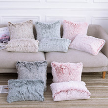 Capa de almofada de pelúcia de pele macia fronha decoração para casa capas de travesseiro sala estar quarto sofá almofadas decorativas capa 30/45/50cm