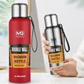 500-1500 мл с двойным слоем нержавеющей стали вакуумный термос-бутылка для кружка для путешествий на открытом воздухе большая емкость ТЕРМОС П...