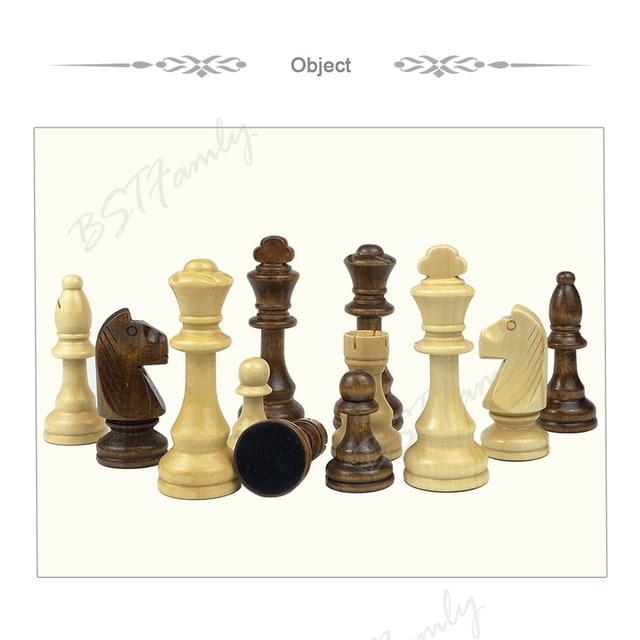 32 ou 34 pièces d'échecs en bois jeu d'échecs roi hauteur 105mm jeu d'échecs de voyage de haute qualité grand échiquier ou planche ou cadeau IA88 6