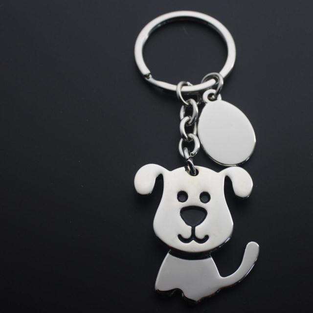 Cute Puppy Key Chain Men's Keychain Car Key Chain Korean style Metal Women's Pendant Chinese Zodiac Dog Years Key Case for Car     - title=