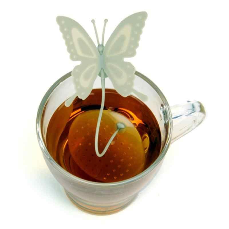 Thee Zetgroep Silicone Mooie Vlinder Vorm Thee Koffie Losse Leaf Zeef Tas Mok Filter Theepot Theezakjes Drinkware