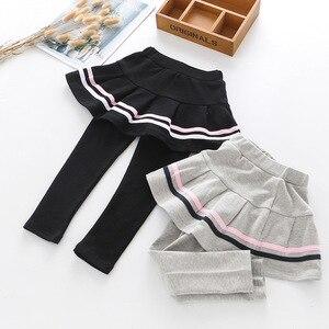 Image 5 - 3 4 5 6 7 שנים בנות מכנסיים אביב סתיו קוריאני חצאית חותלות מזויף שני חתיכות מכנסי חצאית הגעה חדשה לפעוטות תינוק מכנסיים חדש