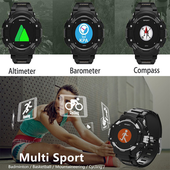 GPS Bluetooth Smartwatch Men IP67 Waterproof Altitude Thermometer Passometer Fitness Tracker Sport Smart Watch Reloj Deportivo