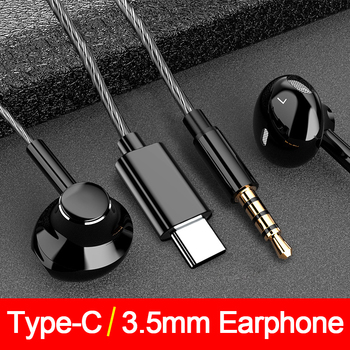 Heavy Bass type C earphones for Samsung For Xiaomi Redmi 3.5mm Jack In Ear ear phone Headset Mic Volume control TypeC Earphone with mic supper bass hifi earphone in ear type headset headphone for xiaomi samsung galaxy s3 s4 note3 note 2 s7 n7100 mp3